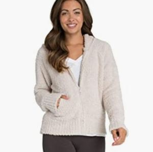 Barefoot Dreams Cozychic Bamboo Relaxed Fit Plush Beige Hoodie